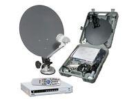 Caravan / Camping / Portable Satellite TV Kit