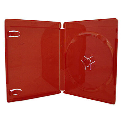 100 14mm Single Disc Red Blu-ray Case with BLU-RAY logo ONLY for PS3 PS3RED