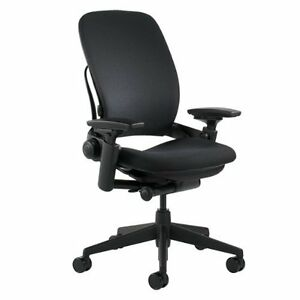 Steelcase Leap Chair, V2 -Open Box- Fully Loaded Black Fabric