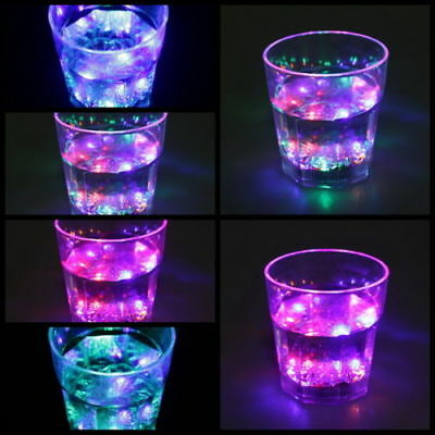 LED LIGHT BLINKING Rock Bar Beer GLASS  COLOR CHANGING FLASHING DRINKING CUP (Plastic Color Changing Cups)