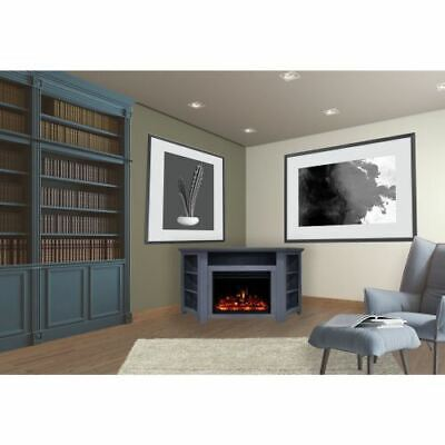 stratford electric fireplace heater with 56 blue