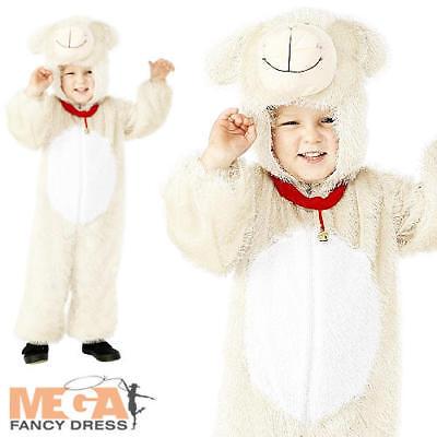 Little Lamb Kids Fancy Dress Farm Animal Boys Girls Book Day Costume Outfit - Farm Girl Fancy Dress Kostüm