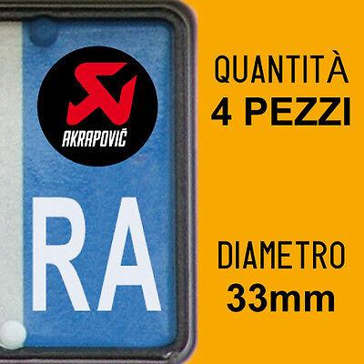 Set 4 Adhesivos Para Matrícula Akrapovic Placa Coche Moto Europa Custom Stickers