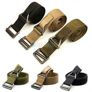 Unisex-Women-Men-Rescue-Tactical-Rappelling-Downhill-Canvas-Military-Belt