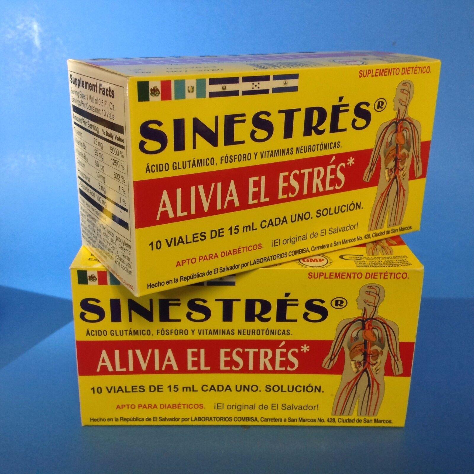2 SINESTRES SUPPLEMENT 10 Drinkable Vials each-SUPLEMENTO BEBIBLE