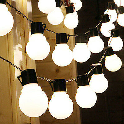 Outdoor String Lights Patio Party Home Yard Garden Wedding Solar LED Bulbs 2M - Patio Lights String