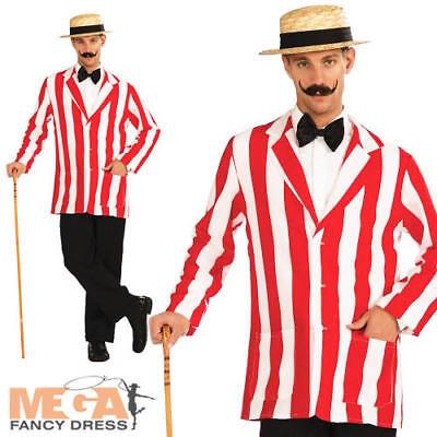 1920s Old English Jacket Mens Fancy Dress Barbershop Quartet 20s Adults - Old English Kostüm