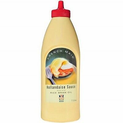 HOLLANDAISE SAUCE 1L BY FRENCH MAID IN HANDY SQUIRT BOTTLE BB NOV 2021 - AWESOME
