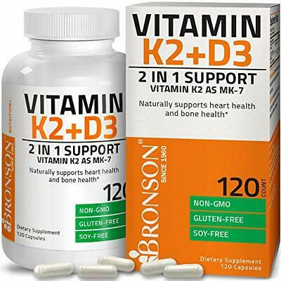 Vitamin K2  with D3 Supplement Bone and Heart Health Non-GMO