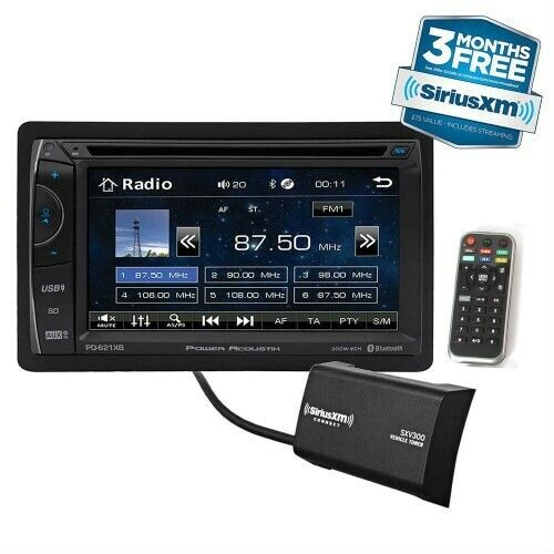 "Power Acoustik PH-620SXMB Double DIN CD/DVD Player 6.2"" LCD Bluetooth Sirius XM"
