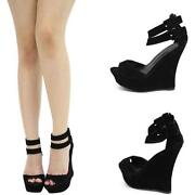 Black Mary Jane Wedge
