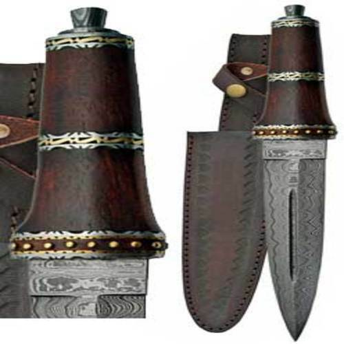 """DirkWod Damascus Athame 13 3/4"""" Wholesale Wiccan Witchcraft Supply Store"""