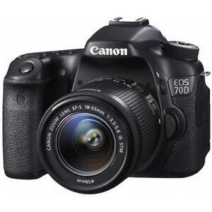 **SAVE THE GST** Canon EOS 70D W/18-55mm IS STM Lens
