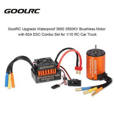 GoolRC Upgrade Waterproof 3650 3500KV Brushless Motor with 60A ESC Combo A3V5
