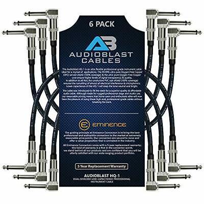 Audioblast - 6 Units - 6 Inch - HQ-1 - Ultra Flexible - Dual Shielded 100% - G