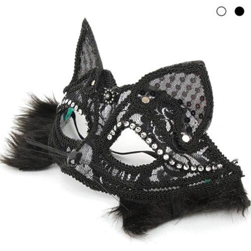 2018 Halloween Lace Kitten Fox Animal Eye Mask Party Mask Half Cat Face Prop New