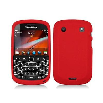 Red Silicone Skin Case Cover for Blackberry Bold Touch 9900 / (Blackberry Silicone Skin Case)