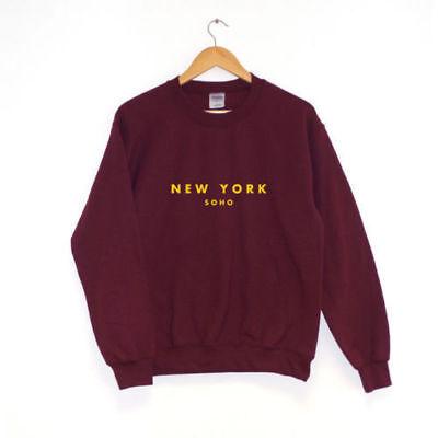 New York Soho | SWEATSHIRT JUMPER | UNISEX GIFT Best Quality (Best Quality Crewneck Sweatshirts)