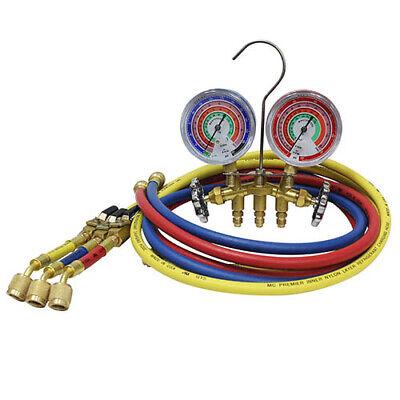 Mastercool 59272 R410a Brass 2-way Manifold Gauge Set W3-72183cm
