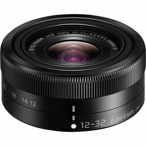 Panasonic Lumix G Vario 12-32mm f/3.5-5.6 ED Mega O.I.S Asph Lens (Black) New!