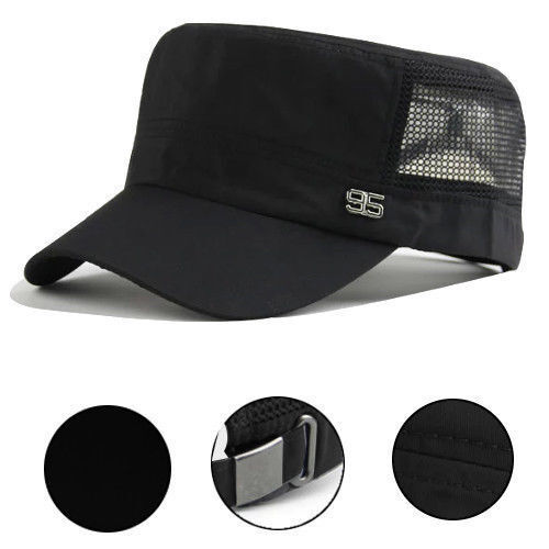 Men Solid Mesh Cadet Cap Summer Travel Adjustable Breathable Fishing Casual Hats Clothing, Shoes & Accessories