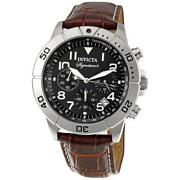 Invicta Mens Watch Brown Leather