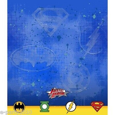 JUSTICE LEAGUE PLASTIC TABLE COVER ~ Birthday Party Supplies Batman Flash DC Justice League Party Supplies