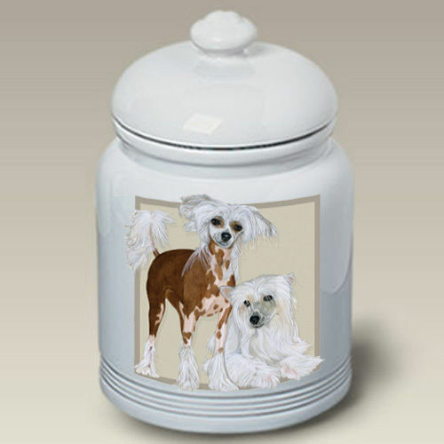 Chinese Crested Ceramic Treat Jar PS 52069