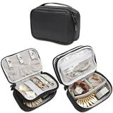 Teamoy Travel Jewelry Organizer Case Jewelry & Accessories Holder Pouch with ...