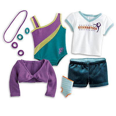 American Girl McKenna's Practice Gymnastics Wardrobe Outfit: 16 Pieces Complete