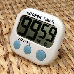 Large LCD Digital Kitchen Timer Egg Cooking Count Down Alarm Clock Stopwatch