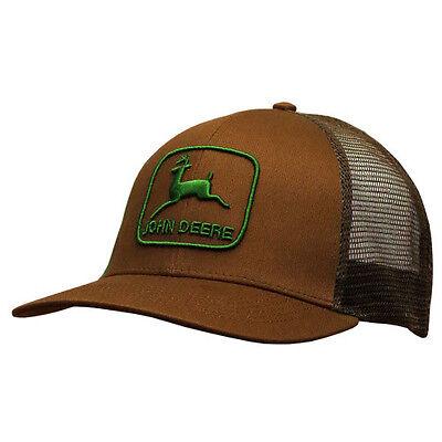 John Deere Hat, John Deere Cap 13080405 Trucker Hat. NWT. Brown Vintage