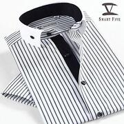 Mens Round Collar Dress Shirt