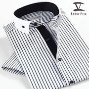 Mens Round Collar Dress Shirt