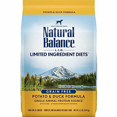Natural Balance L.I.D. Limited Ingredient Diets Dry 4.5 Lb. Bag Potato & Duck