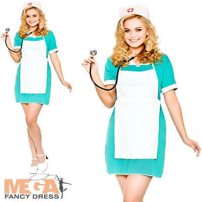 Nurse Ladies Fancy Dress Hospital Occupation Uniform Adults Womens Costume New (Occupation Fancy Dress)