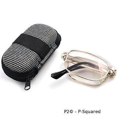 P2 Folding Reading Glasses, Metal Frames, Readers, Cheaters - 2 for 1 Sales USA (Folding Glasses Frames)