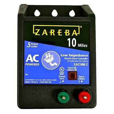 Zareba Eac10m-z Fuseless Low Impedance Ac Powered Electric Fence Energizer 0.5