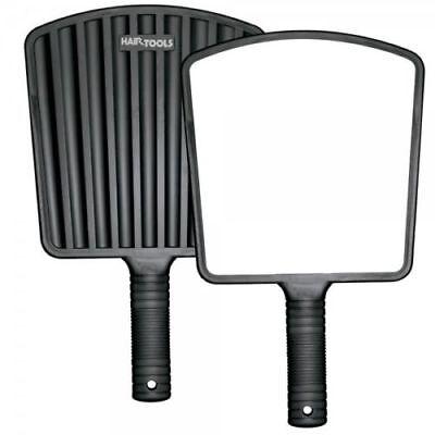 Pro Hair Tools Negro Elegante Espalda Eco Espejo de Mano 20CM X Salón Uso