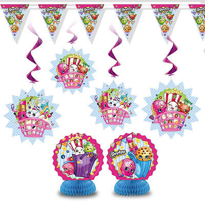Girly Party Decorations (SHOPKINS DECORATION KIT (7pc) ~ Birthday Party Supplies Pink Girly Room)