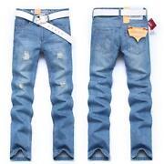 Mens Jeans 34 Waist Slim Fit