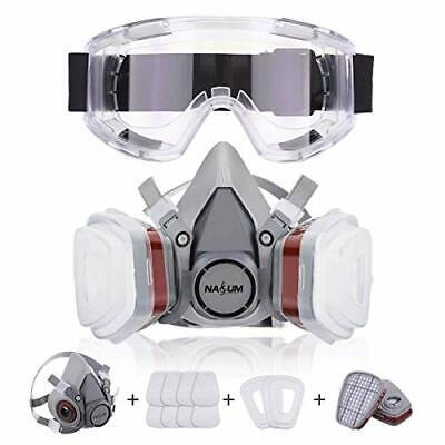 NASUM Halb Gesicht Abdeckung Wiedervewendbar, mit Schutzbrille, Atemschutzmaske