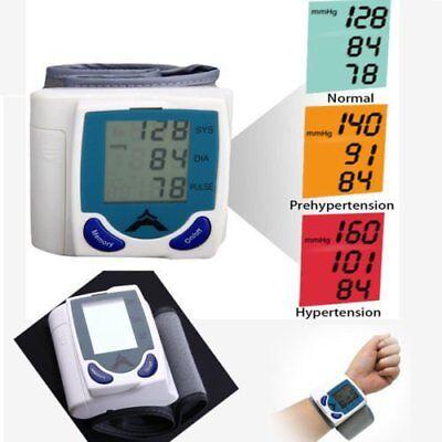 Usa Fda Auto Digital Wrist Blood Pressure Monitor Heartbeat Meter Memory Lcd Hp