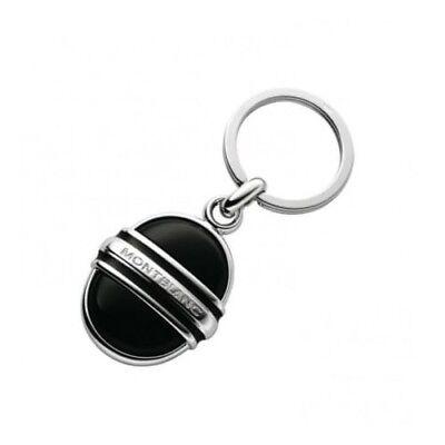 Montblanc Solitaire Onyx Platinum Jewelry Key Ring #2871 ~ - Mont Blanc Platinum Key Ring