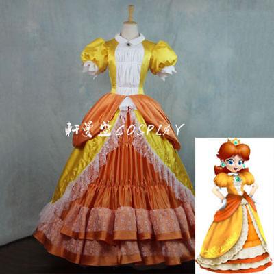 Super Mario Princess Daisy Costume Sisters Adult Women Cosplay Dress ](Adult Princess Daisy Costume)