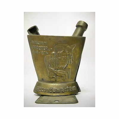 Vintage mortar & pestle cast iron bookends William Proctor 1817-1874 Pharmacy