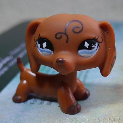 Brown Dachshund dog #640 HTF Action Figure gift LPS LITTLEST PET SHOP