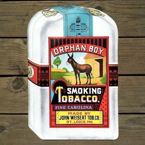 Vintage Original 1930s ORPHAN BOY CIGAR Smoking TOBACCO Paper Poster Unused NOS