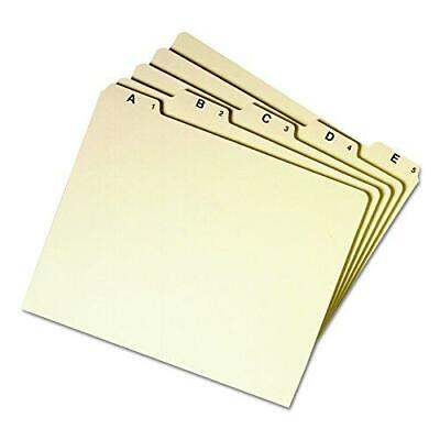 Smead Heavy Weight File Guides 15 Cut Tab A-z Letter Size Manila Set 25 50176