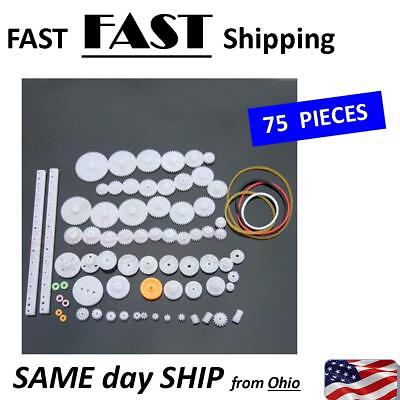 Bulk Pack Plastic Gears Worm Hears - Mechanical Engineering Parts - 75 Pack